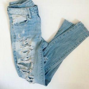 American Eagle   Super Stretch High Rise Distressed Jeans